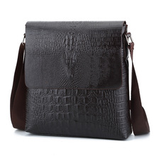 Fashion TOP Leather Men messenger bags Cover closure Business briefcase male crossbody bags Man shoulder bags