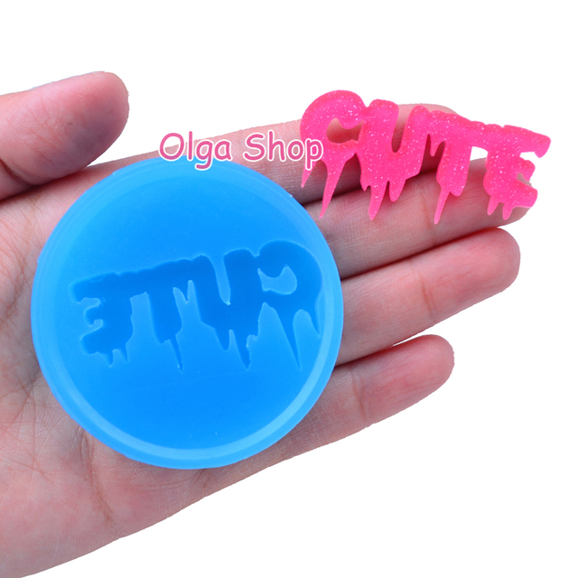 JYL180 46.6mm Creepy CUTE Silicone Mold – Drippy Word Mold Cake Decorating, Fondant, Sugarcraft, Gum Paste Resin Candles Biscuit