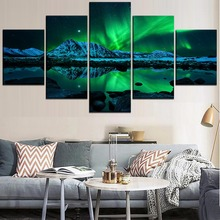 Natural Landscape Wall Art Canvas Painting 5 Piece HD Print Modern Decor Picture Poster Living Room