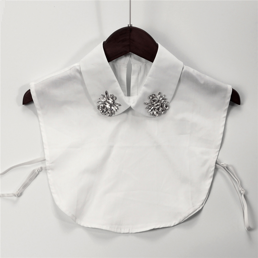 New Autumn White Bib Detachable Collars Women Blouse False Collar