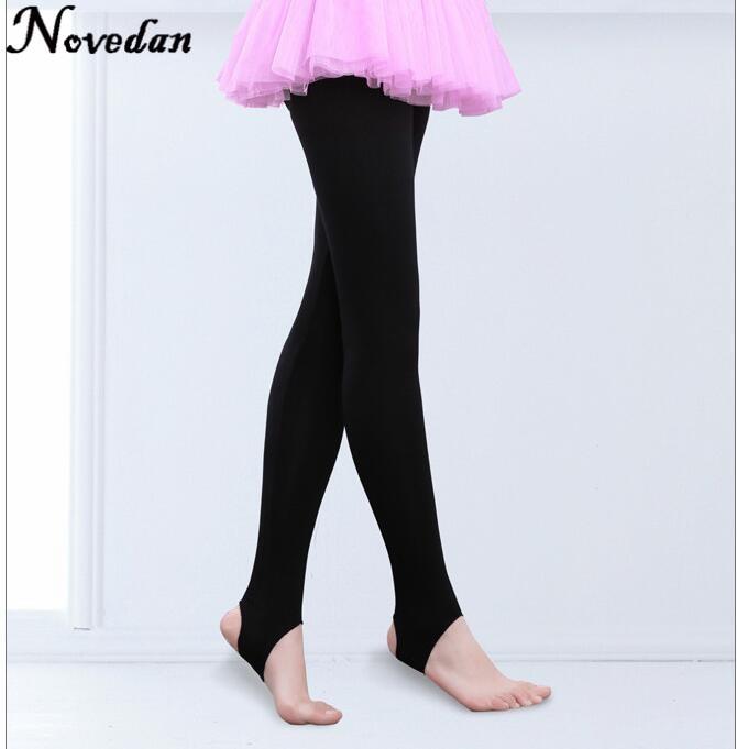 Child Kids Girls Stirrup Ballet Dance Tights Socks Gymnastics Practice Pantyhose Fitness Pants Dance Clothes Legging