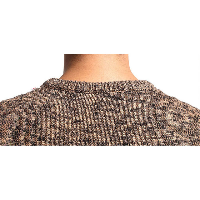 Cotton Sweater Pullover Men O-neck Casual Long Sleeve Sweaters Fit Knitting Solid Clothing  Autumn M-XXXL