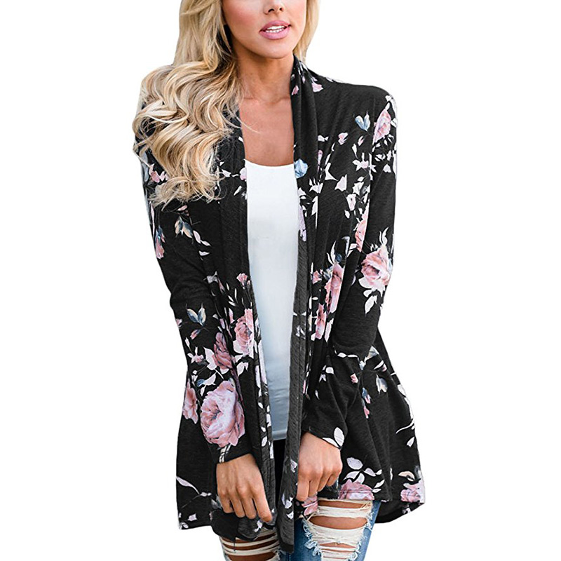 2018 Female Blouse Cardigan Print Floral Shirts Top Spring Autumn Maternity Clothes For Pregnant Women Plus Size Womens Clothing
