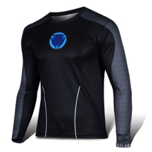 2016 high quality compression long sleeve T-shirt superman, batman, spiderman/captain America fitness  t-shirts men T-shirt
