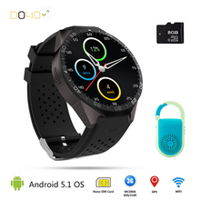 2016 hot 3g kingwear kw88 smart watch android 5.1 os smart uhr 1,39 zoll SmartWatch unterstützung 3G wifi nano SIM WCDMA Herz Rate