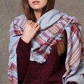 ZALA Новый Бренд Зимой 2015 Тартан Шарф Desigual Плед Шарф Шали Основные женские большой размер одеяло шарф