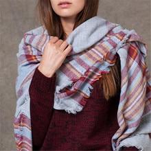 ZALA New Brand in the Winter of 2015 Tartan Scarf Desigual Plaid Scarf Shawls Basic Women
