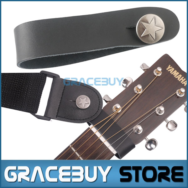 Guitar Strap Button Genuine Leather Hook Leatherette Strap Holder Head Stock Tie for Acoustic Folk Classic Guitarra flanger fa 80 utility guitar strap for all sizes folk
