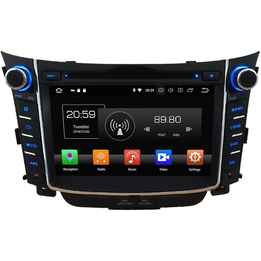 7'' 4GB RAM Octa Core Android 8.0 32GB ROM SWC BT Multi Car DVD Player Radio Stereo GPS Navi For Hyundai I30 2011 2012 2013-2016 2gb ram 7 quad core android 7 1 multimedia 4g dab swc bt car dvd player audio stereo radio gps navi for vw touareg 2002 2011