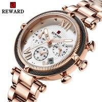 Luxury Brand Rose Gold Watch Women 2019 New Fashion Wrist Watch Female Steel Bracelet Watches Women Date Chronograph Sport Clock