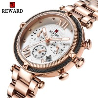 Luxury Brand Rose Gold Watch Women 2019 New Fashion Wrist Watch Female Steel Bracelet Watches Women Date Chronograph Sport Clock
