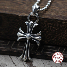 S925 Sterling Silver Men s Pendant Crusader Flower Pendant Jewelry Tag Personality classics Trendy fashion Send