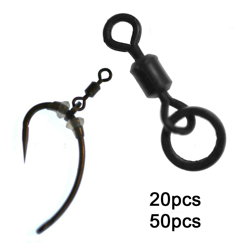20pcs 50pcs Corrosion Resistant Flexible Ring Spinning Micro Hook For Carp Reservoir Fishing Swivels Quick Connect Safe Portable20pcs 50pcs Corrosion Resistant Flexible Ring Spinning Micro Hook For Carp Reservoir Fishing Swivels Quick Connect Safe Portable