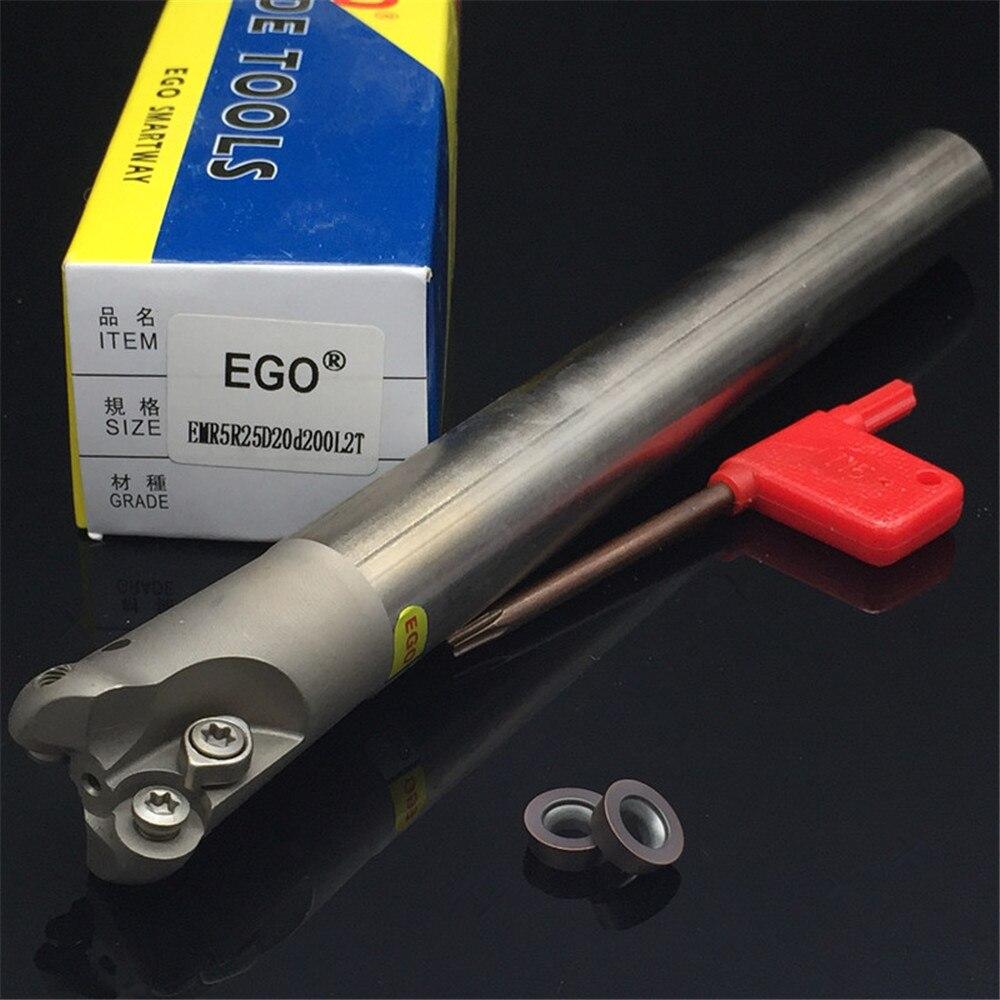 Milling cutter holder EMR5R25D20d200L2T corner rounding end mills ball nose end mills RPMW1003 EMR5R EMRW5R