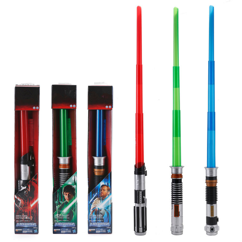 Action Figure For Sword Cosplay Props Flashing Lightsaber Star Laser Sword Childrens Wars Toys Music Luminous Telescopic