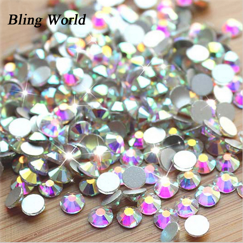 SS8 Crystal AB Non Hotfix  Round Flatback Nail Art Rhinestones For DIY Cell Phone And Shoes 1440pcs 7913 black silk essence liquid eyeliner pencil makeup pink 6ml