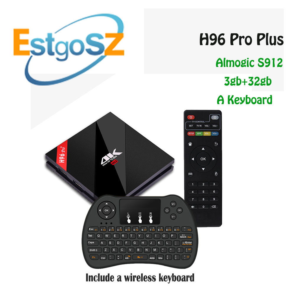 New Arrival H96 Pro Amlogic S912 Octa Core ARM Cortex-A53CPU Android 7.1 TV box BT4.1 4K Google TV box with Wireless Keyboar носки мужские гранд цвет серый 2 пары zc113 размер 29