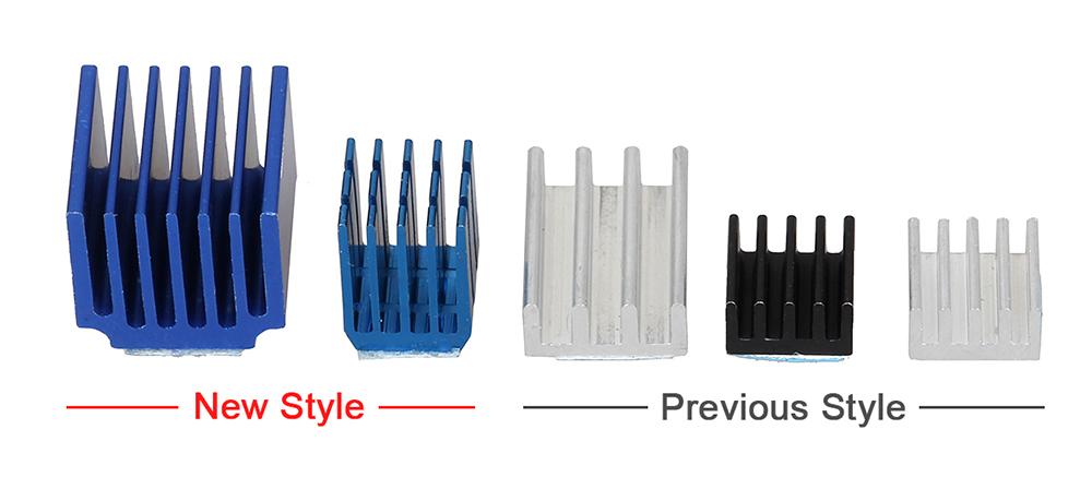 3DSWAY 3D Printer Parts 4pcslot Stepper Motor Driver Heat sinks Cooling Block Heatsink for TMC2100 LV8729 DRV8825 Drive Modules (2)