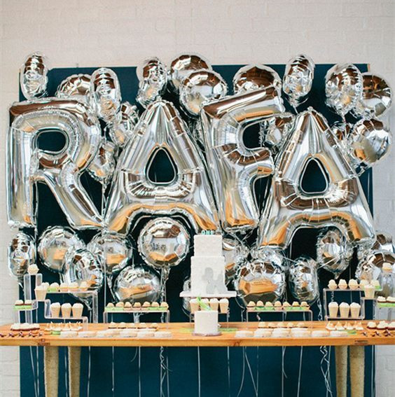 Big Silver Letters 40 Inch Big Silver Letters Foil Balloons Large Letter Air Helium