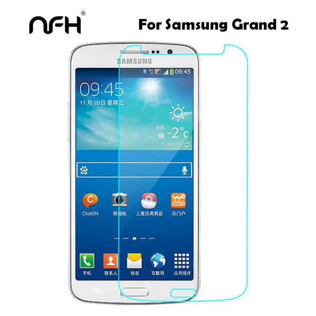 0.3mm מזג זכוכית עבור Samsung Galaxy גרנד 2 Duos G7102 G7105 G7106 G7108 G7109 G7108V 9 H מגן סרט 2.5D קשת על Grand2