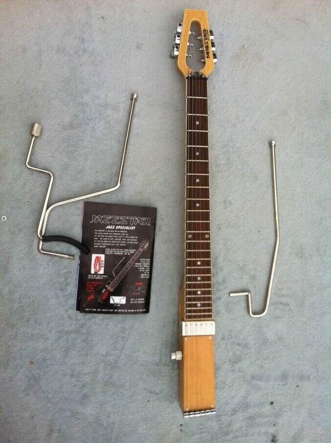 Livraison gratuite MiniStar JazzStar Jazz Guitare De Voyage Intégré Casque Ampli guitare électrique