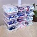 9 unidades for un lot PP de plástico de almacenamiento de apilamiento estante del zapato