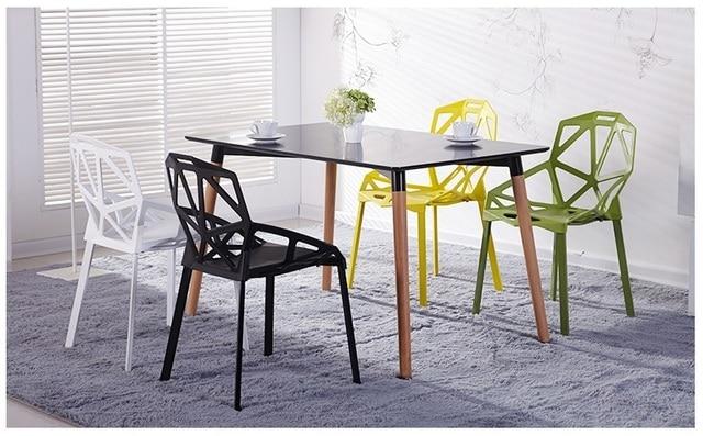 € 669.28 |Bureau chaise hall de l\'hôtel restaurant salle à manger en  plastique PP tabouret noir blanc jaune couleur livraison gratuite dans ...