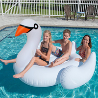 150cm White Inflatable Swan Pool Float Giant Swimming Ring Summer Water Mattress Party Toys For Adults Kids