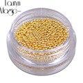 Oro Plata Mini Perlas de Caviar Gel Esmalte de Uñas de Arte Consejos Metálico Encanto Perla Bola Pro Manicura DIY 3D Decoración