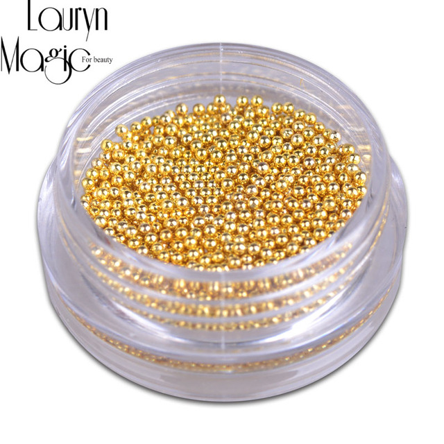 Oro Plata Mini Perlas de Caviar Gel Esmalte de Uñas de Arte Consejos ...