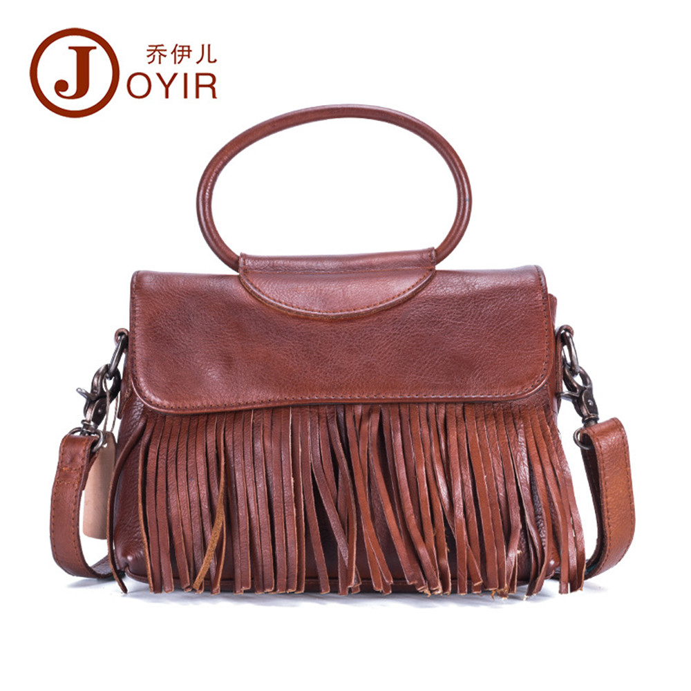 Luxury Women bag genuine leather crossbody shoulder bags Vintage tassel designer handbags High Quality Ladies messenger bags tcttt luxury handbags women bags designer fashion women s leather shoulder bag high quality rivet brand crossbody messenger bag