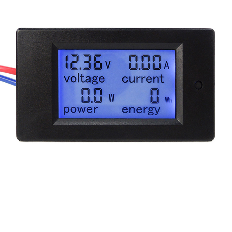 DC 6.5-100V 0-100A LCD Display Digital Current Voltage Power Energy Meter Multimeter Ammeter Voltmeter dc 6 5 100v 0 100a lcd display digital current voltage power energy meter multimeter ammeter voltmeter w 100a current shunt