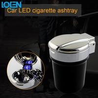 Universal Portable Car Truck Smokeless Ashtray Led Lighting Auto Travel Cigarette Ash Holder Cup Case Black