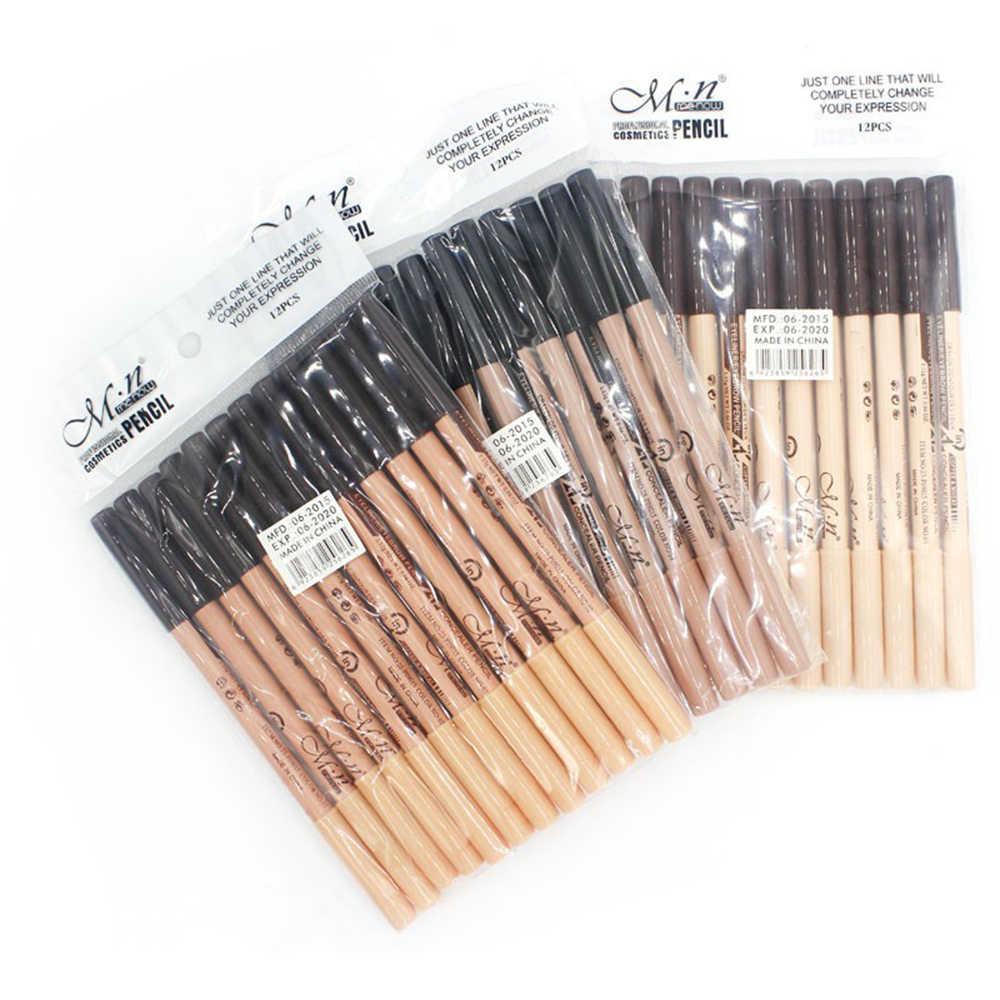 1 adet Profesyonel Menow Çift kullanımlı çift başlı siyah eyeliner kalem 3 Renk kalem + kapatıcı kalem Sıcak satış TSLM2