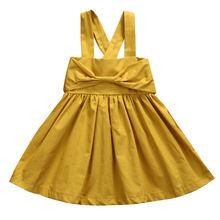 Nice Toddler Infant Kids Baby Girls Dresses Bow Cute Sleeveless Princess Party Girl Tutu Dress New Summer