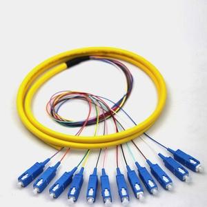 Image 2 - 12 нитей 9/125 волоконно оптический свиной хвост 1,5 м SC/UPC одиночный режим