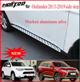 New arrival Side steps running board side nerf bar for Mitsubishi Outlander,CXK genuine,insured by PICC company,loading 400kg