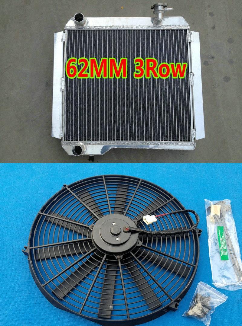 Aluminum Radiator Fit Toyota Land Cruiser BJ42 BJ43 BJ44 BJ45;BJ46 3B 3.4L MT