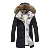 2017 Thicken Parka Plus Size Men Winter Jackets Fur Hooded Winter Coats Loose Solid Color Winter Jackets Men and women