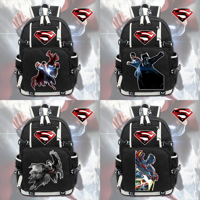 New Fashion   Backpacks For Kids Superman Backpacks For Teenagers Boy Girls Schoolbags Super Man Fans Bags