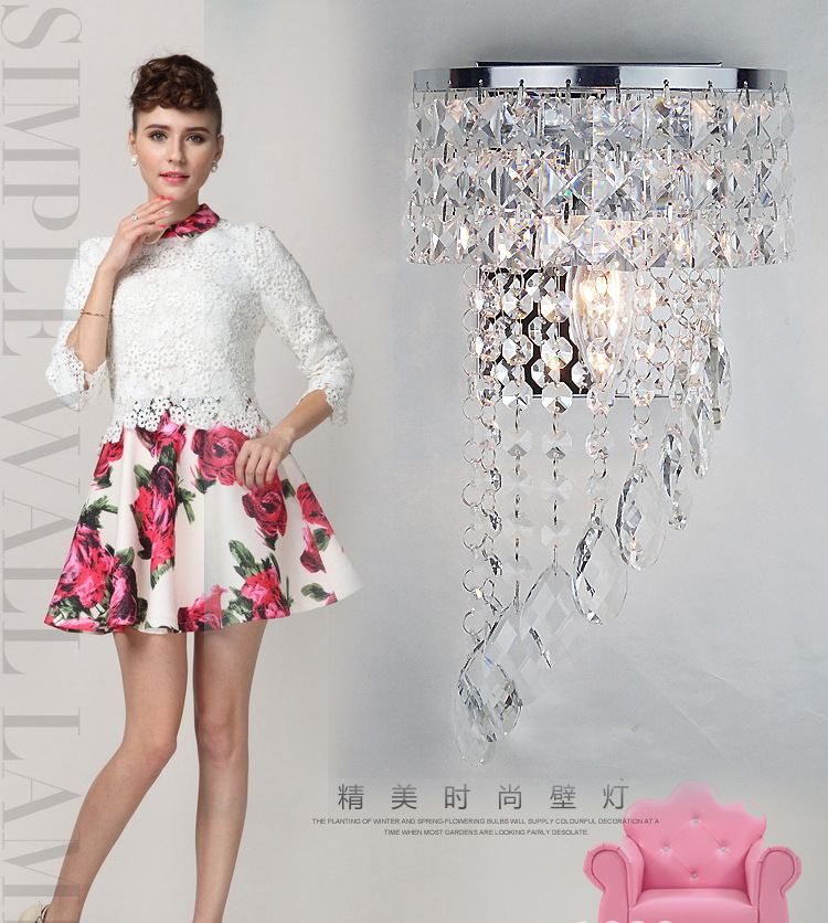 modern crystal wall lamp contracted sitting room corridor hallway stairs hotel led wall lamp цена