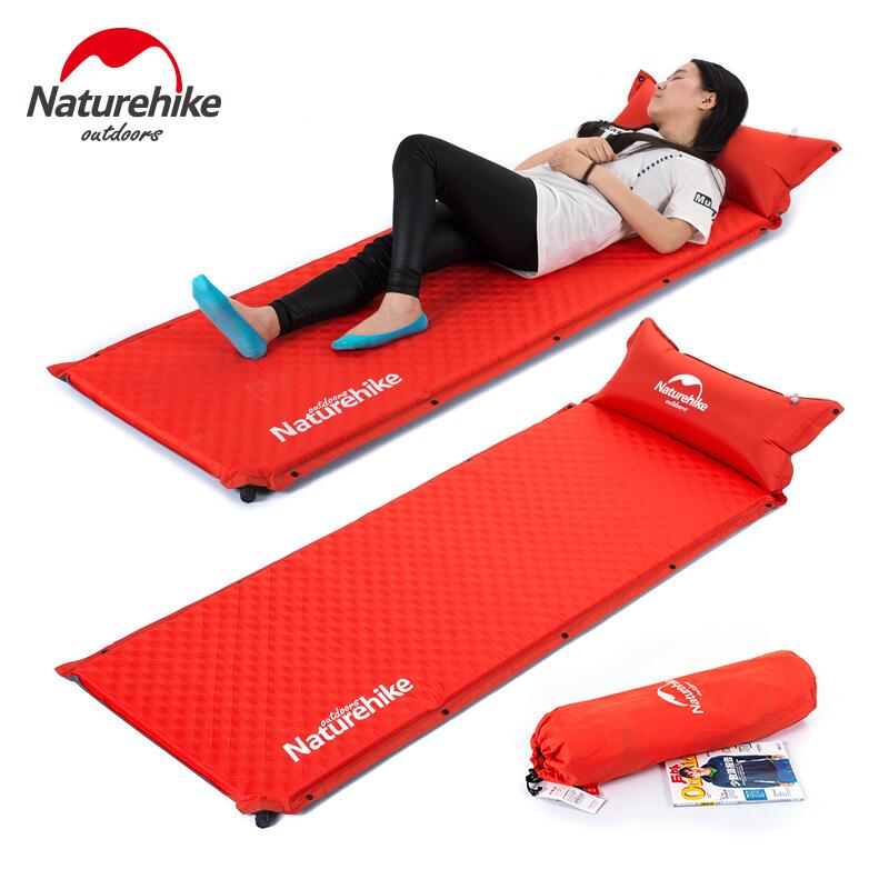 Naturehike Air Bed Cushion Outdoor Automatic Inflatable Mattress Camping Mattress Widened Thicker Portable Yoga Beach Mats betos car air mattress travel bed auto back seat cover inflatable mattress air bed good quality inflatable car bed for camping