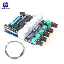 TPA3116 2.1 płyta wzmacniacza Audio DC 12 24V cyfrowy Subwoofer HIFI moduł wzmacniacza Super głośnik basowy moduł 50W + 50W + 100W