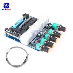Image 1 - Tpa3116 2.1 placa de amplificador de áudio dc 12 24 v módulo amplificador subwoofer de alta fidelidade digital super baixo alto falante 50 w + 50 w + 100 w