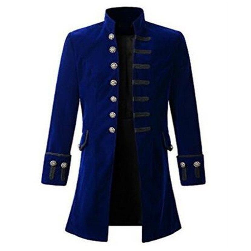 Hommes Manteau Hommes Solide Couleur Mode Steampunk Rétro À Manches Longues Manteau De Mode Chaude Vente Automne Et D'hiver Nouvelle Mode vente chaude