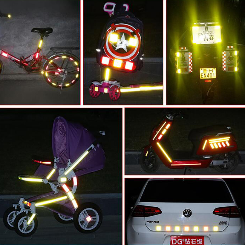 Купить с кэшбэком 50mm X 10m Reflective Stickers Adhesive Tape Bike Stickers Car Accessories