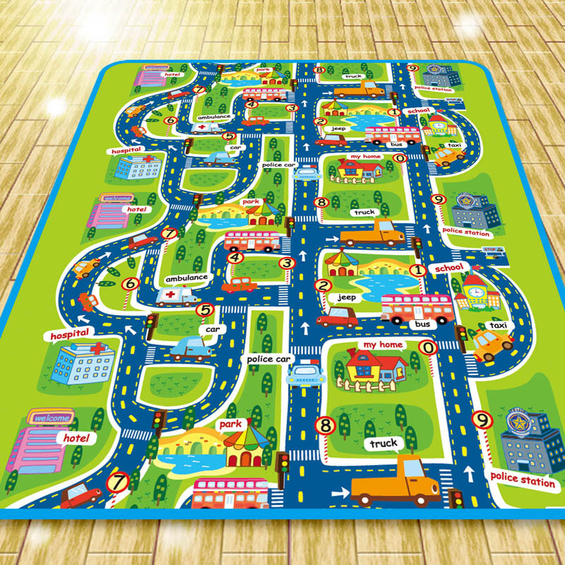 City Map Soft Todder Play Mat Baby PlayMat Toys Crawling Pads For Children Development Carpets Kid Puzzle Play Game Rug
