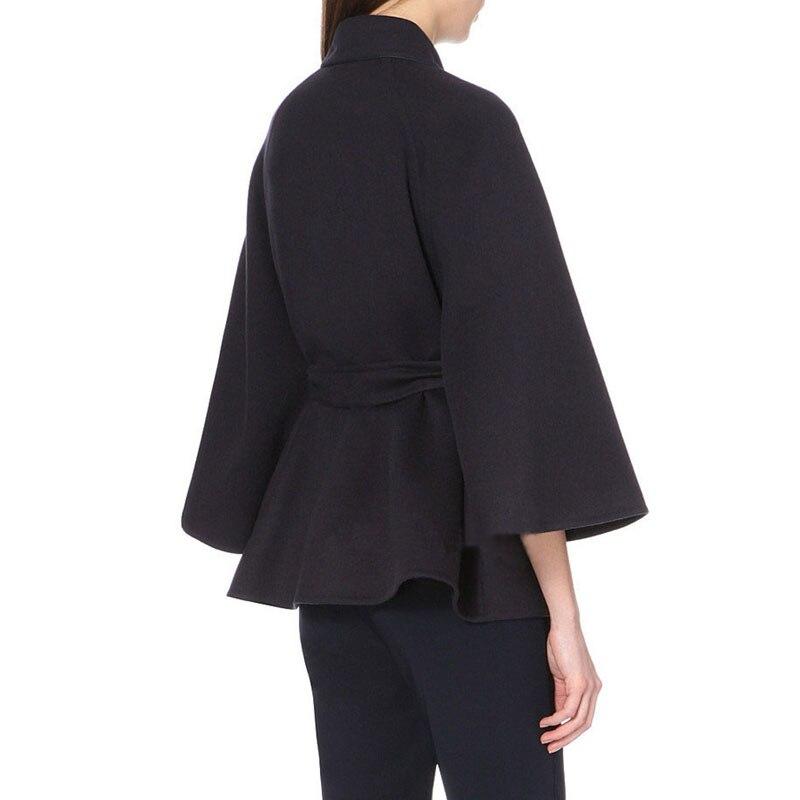 La Collar Laine Plus Bouton down Correspondants Les Lâche Survêtement Pardessus Tous Couvert Taille Femmes Noir Manteau Filles Mélanges Ladisturn 70wwqAC