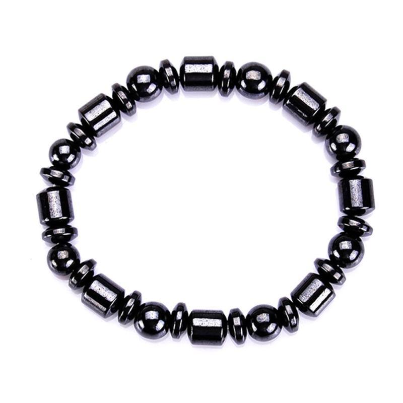 Gesundheitsversorgung 1 Pc Gewicht Verlust Runde Schwarz Stein Heißer Unisex Magnetische Therapie Armband Gesundheit Pflege Luxus Abnehmen Produkt