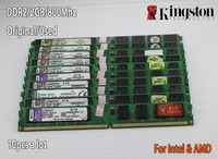 Used Kingston Desktop RAM DDR2 2GB 2g PC2 6400 800MHz 667Mhz 10 Pieces PC DIMM Memory